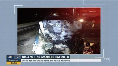 Homem morre carbonizado e 2 ficam feridos em colisão frontal na BR-470, em Pouso Redondo - Homem morre carbonizado e 2 ficam feridos em colisão frontal na BR-470, em Pouso Redondo