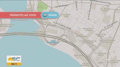 Confira a situação do trânsito ao vivo em Florianópolis e no Vale do Itajaí - Confira a situação do trânsito ao vivo em Florianópolis e no Vale do Itajaí
