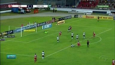 Jogando em casa, CRB empata com o Coritiba - Jogo terminou em 1 a 1.