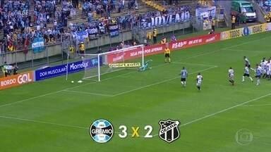Na rodada do Brasileirão, Grêmio vence o Ceará e o Cruzeiro supera o Santos - Gols da rodada do Brasileirão