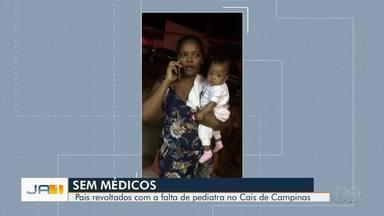 Pais chamam a polícia para tentar garantir atendimento a criança em Cais de Goiânia - Pacientes reclamam de demora no atendimento da unidade do Setor Campinas.