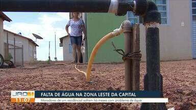 Falta de água na zona leste da capital - Moradores do Cristal da Calama estão há meses com problema de água.