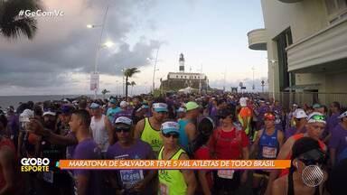 Repórter do GE participa da Maratona de Salvador e mostra os bastidores da corrida - Competição reuniu mais de cinco mil atletas na capital baiana.