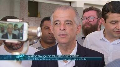 Márcio França faz campanha na região de Sorocaba - Márcio França, do PSB, viajou por duas cidades da região de Sorocaba.