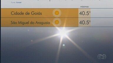 Goiânia tem dia mais quente do ano com 38,5°C, e 'calorão' deve continuar, diz Inmet - Chefe de meteorologia do instituo diz que semana deve ser de altas temperaturas e tempo seco; chuva volta à previsão a partir de sexta-feira.