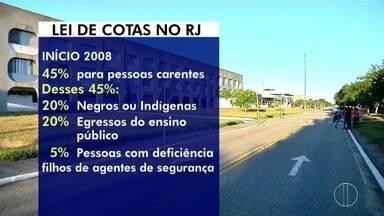 Sistema de cotas nas universidades do Rio de Janeiro completa 10 anos - Assista a seguir.