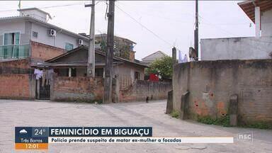 Homem suspeito de matar ex-mulher a facadas em Biguaçu é preso - Homem suspeito de matar ex-mulher a facadas em Biguaçu é preso