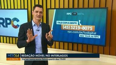 Equipe da RPC tem convite especial para moradores da região norte de Cascavel - Nesta sexta-feira, dia 28 a redação móvel da TV Digital estará no bairro Interlagos.