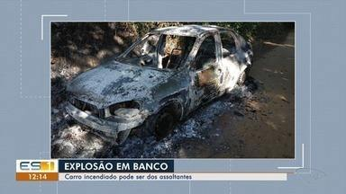 Carro incendiado pode ser dos assaltantes que arrombaram banco em Santa Maria - Ninguém foi preso. A policia civil não passa mais informações para não atrapalhar as investigações.