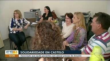 Associação de Castelo que ajuda pessoas com câncer pede doação para construção de sede - Associação de Castelo que ajuda pessoas com câncer pede doação para construção de sede.