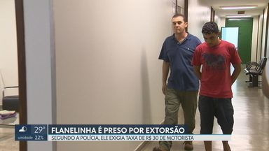 Flanelinha é preso por extorsão - Segundo a polícia, o flanelinha vinha ameaçando uma motorista porque ela não queria pagar uma taxa de R$ 30 por mês para ele.