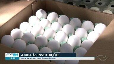 Mais de 40 mil ovos são doados a instituições após operação do Idaf no Sul do ES - Eles foram entregues nesta quarta-feira (26).