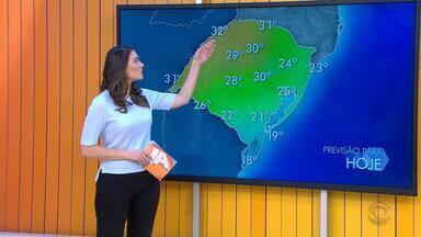 Tempo: há possibilidade de chuva e temperaturas chegam aos 32ºC nesta sexta-feira (28) - A chuva segue no estado neste sábado (29).