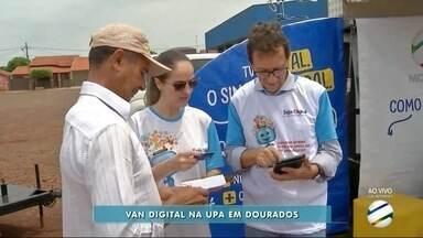 Van Digital faz plantão na UPA de Dourados nesta sexta-feira - Equipe vai tirar dúvidas sobre desligamento do sinal analógico e kit digital.