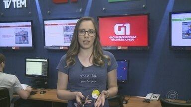 Caroline Andrade traz os destaques do G1 Sorocaba e Jundiaí desta segunda-feira - Confira os destaques do G1 Sorocaba e Jundiaí (SP) desta segunda-feira (1º) com a repórter Caroline Andrade.
