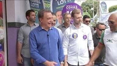 Candidato do Podemos, Alvaro Dias, faz campanha no interior de São Paulo - Jornal Nacional mostra como foram as atividades de campanha de candidatos à presidência nesta segunda-feira (1º).