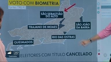 Em cinco municípios do Rio, eleitor que não recadastrou a biometria não vai votar - Nessas cidades recadastramento era obrigatório. Quem não fez teve o título cancelado.