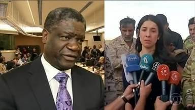 Ativistas contra violência sexual como arma de guerra ganham Nobel da Paz - O prêmio será dividido entre Nadia Murad, ex-escrava sexual do Estado Islâmico, e Denis Mukwege, um ginecologista que atendeu milhares de mulheres estupradas na República Demorática do Congo.