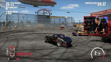 Confira gameplay estendido de 'Wreckfest' com Tiago Leifert - Confira