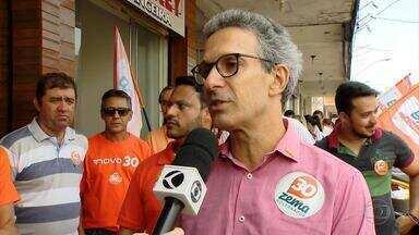 Romeu Zema (Novo) conversa sobre propostas para o governo em Tupaciguara - Candidato deu entrevista em uma emissora de rádio do Triângulo Mineiro e seguiu para caminhada no centro da cidade.