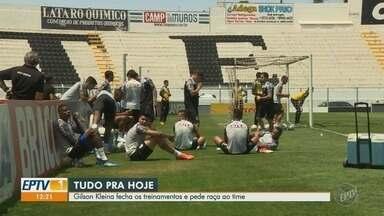 Ponte encerra preparação para enfrentar o CRB neste sábado (6) - Ponte recebe o CRB neste sábado, às 18h30, no Moisés Lucarelli, em Campinas.