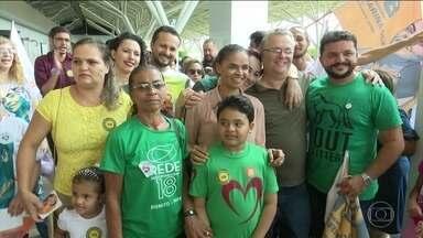 Candidata da Rede, Marina Silva faz campanha em Rio Branco - Jornal Nacional mostra como foram as atividades de campanha de candidatos à presidência neste sábado (6).