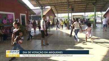Ariquemes é o terceiro maior colégio eleitoral de Rondônia - Muitas filas foram registradas, neste domingo.