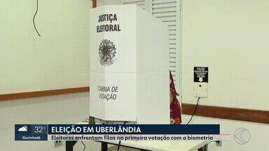 MG1 mostra como foram as Eleições 2018 nas cidades do Triângulo e Alto Paranaíba - Neste domingo (7), os brasileiros participaram do primeiro turno e votaram para presidente, governador, senador e deputados estaduais e federais. Veja como foi o dia em Uberlândia, Ituiutaba, Patos de Minas e Araguari.