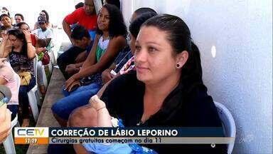 Cirurgias de correção de lábio leporino começam no dia 11, no Cariri - Saiba mais em g1.com.br/ce