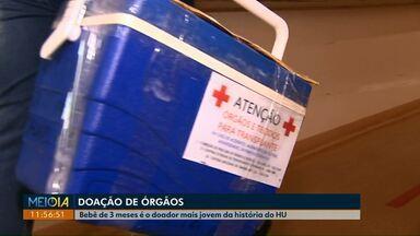 Bebê de três meses se torna o doador de órgãos mais jovem da história do HU de Cascavel - Rins do Pietro foram doados para uma paciente do Rio Grande do Sul.