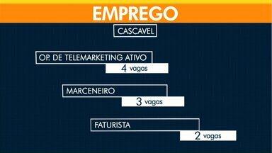 Agência de Cascavel tem quatro vagas de emprego para operador de telemarketing - Tem vaga disponível ainda para faturista e marceneiro.