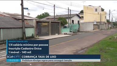 Veja quais são as regras para conseguir isenção na taxa de lixo em Curitiba - A prefeitura publicou o decreto que define as regras na cobrança da taxa de lixo.