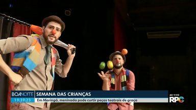 Dia das crianças - Em homenagem à criançada tem teatro em Maringá