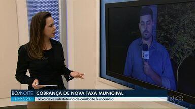 Nova taxa municipal em Maringá - Município quer cobrar nova taxa para substituir a de combate à incêndio