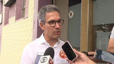 Romeu Zema (Novo) diz que vai pedir para deputados trabalharem em prol dos mineiros - Candidato cumpriu agenda em Belo Horizonte.