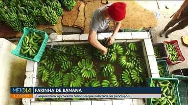 Cooperativa aproveita banana que sobrava da produção e faz farinha - Agricultores de São José dos Pinhais estão ganhando renda extra com a iniciativa.