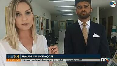 Ministério Público investiga supostos crimes de fraudes em licitações, em Arapoti - A Câmara de Vereadores é um dos alvos das investigações.