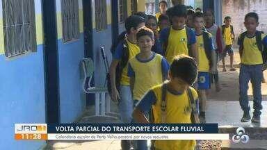 Volta parcial do transporte escolar fluvial - Calendário escolar de porto velho passará por novos reajustes.