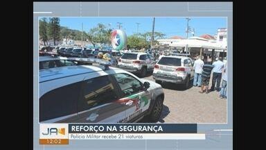 Giro de notícias: Cidades do Sul de SC recebem novas viaturas da PM - Giro de notícias: Cidades do Sul de SC recebem novas viaturas da PM