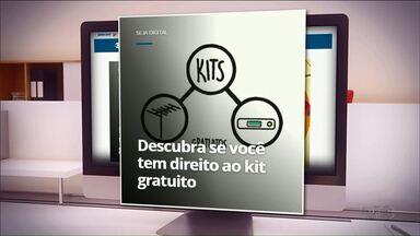 Cadastrados em programas sociais podem ter direito ao 'kit digital' de graça - Veja como saber se você tem direito ao kit.