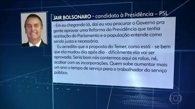 Candidato do PSL, Jair Bolsonaro, fez novos exames médicos no Rio de Janeiro - Jornal Nacional mostra como foram as atividades de campanha de candidatos à presidência nesta quarta-feira (10).
