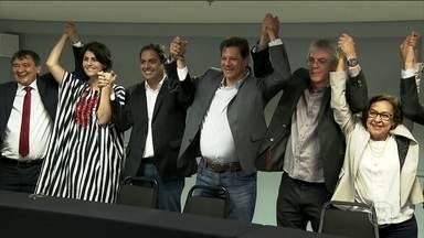 Candidato do PT, Fernando Haddad, passa o dia em São Paulo em reuniões - Jornal Nacional mostra como foram as atividades de campanha de candidatos à presidência nesta quarta-feira (10).