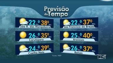 Veja as variações das temperaturas no Maranhão - Confira a previsão do tempo nesta quinta-feira (11) em São Luís e no interior do estado.