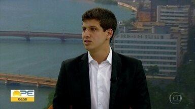 Deputado federal mais votado em PE, João Campos fala sobre prioridades para mandato - Filho de Eduardo Campos também falou sobre influência do pai.
