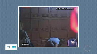Imagens mostram filha suspeita de matar a mãe no quarto da vítima em Petrópolis, no RJ - Câmera instalada dentro do armário flagrou a filha e o namorado suspeitos do crime.