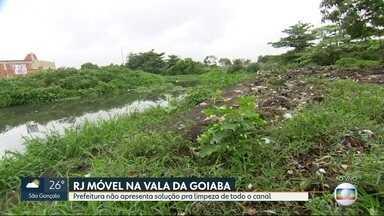 O RJ Móvel dessa quinta-feira foi em Santa Cruz - Os moradores querem a limpeza de todo o canal da Vala da Goiaba. A prefeitura já limpou uma parte, mas ainda falta quase metade do canal pra ser limpo.