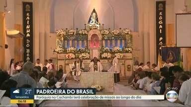 Missas devem reunir milhares de fiéis no dia de Nossa Senhora Aparecida no Rio - A paróquia de Nossa Senhora Aparecida, no Cachambi, tem uma programação especial para o dia da Padroeira do Brasil.