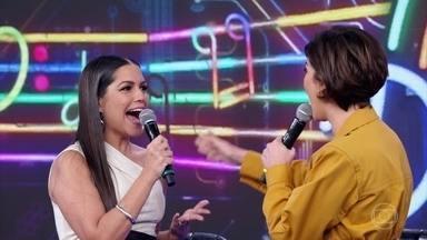 Fernanda Paes Leme e Thais Fersoza acertam a primeira no 'Ding Dong' - Confira!