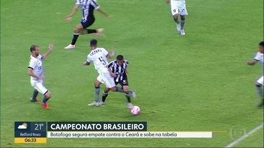 Botafogo segura empate contra Ceará - Time alvinegro suportou pressão, ficou no 0 a 0 e subiu para o décimo segundo lugar no Brasileirão, com 35 pontos.
