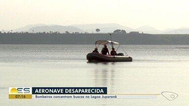Bombeiros concentram buscas de desaparecidos após voô na Lagoa Juparanã - São mais de 20 dias de desaparecimento.